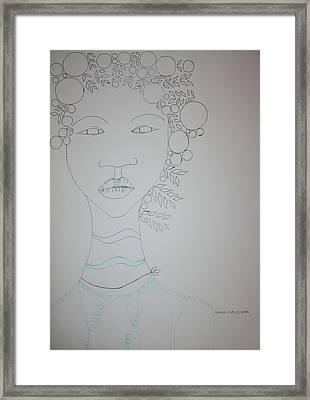 African Queen Framed Print