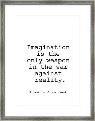 Alice In Wonderland Framed Print by Sweeping Girl