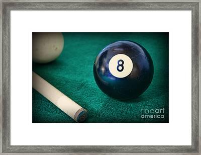 8 Ball Framed Print by Paul Ward