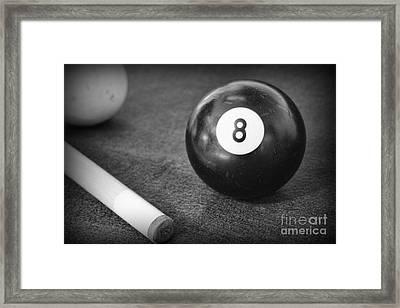 8 Ball Side Pocket Framed Print by Paul Ward