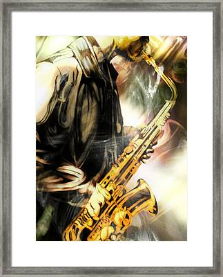 8 Bars Framed Print