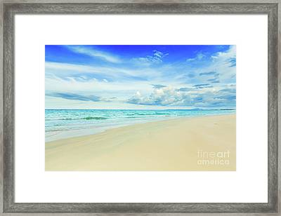 Beach Framed Print by MotHaiBaPhoto Prints