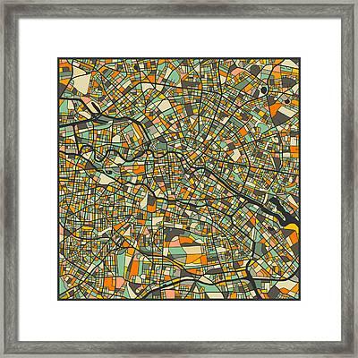 Berlin Map Framed Print
