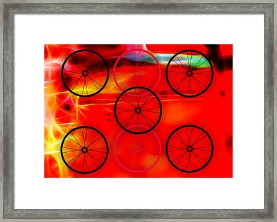 Bicycle Wheel Collection Framed Print by Marvin Blaine