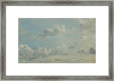 British Title Cloud Study Framed Print by John Constable