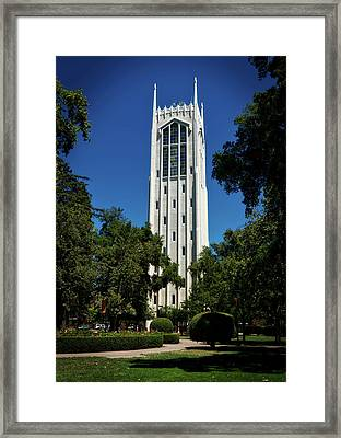 Burns Tower - University Of The Pacific Framed Print by Mountain Dreams