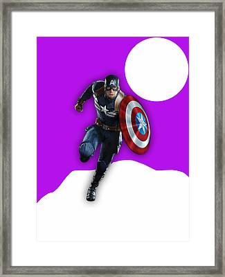 Captain America Collection Framed Print