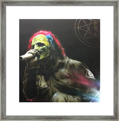 Corey Taylor - '#8' Framed Print
