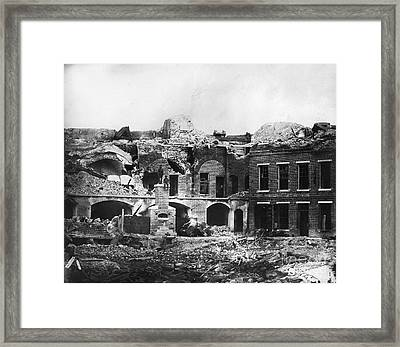 Civil War: Fort Sumter Framed Print by Granger