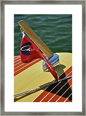 Classic Wooden Runabout Framed Print