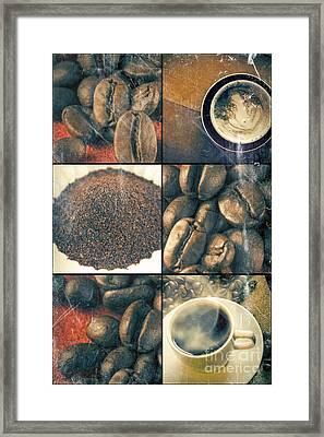 Coffee Collage Framed Print