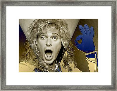David Lee Roth Collection Framed Print by Marvin Blaine