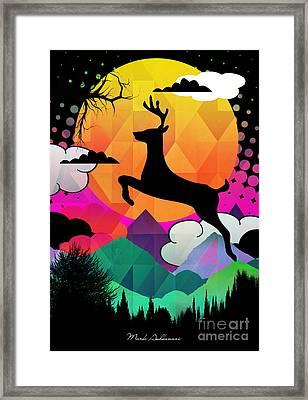 Deer Framed Print by Mark Ashkenazi