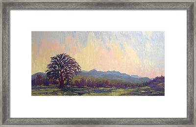 Framed Print featuring the painting Earth Light Series by Len Sodenkamp