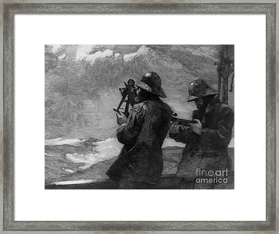 Eight Bells Framed Print by Winslow Homer