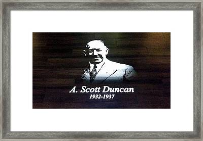 England - Managers Manchester United A. Scott Duncan Framed Print by Jeffrey Shaw