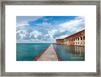 Fort Jefferson And Moat Framed Print