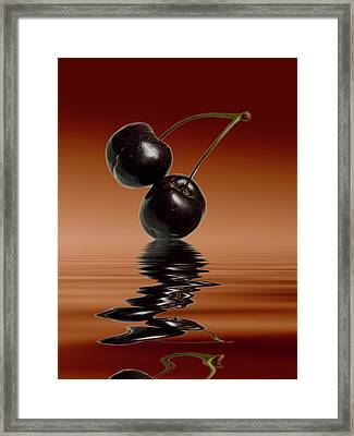 Fresh Cherries  Framed Print by David French