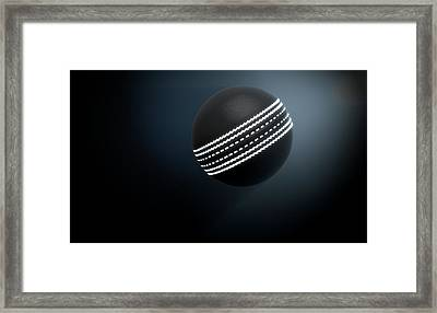 Futuristic Neon Sports Ball Framed Print