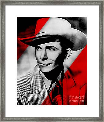 Hank Williams Collection Framed Print by Marvin Blaine
