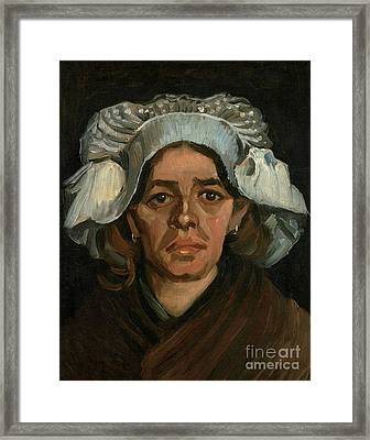 Head Of A Woman Framed Print by Vincent Van Gogh
