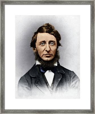 Framed Print featuring the photograph Henry David Thoreau by Granger