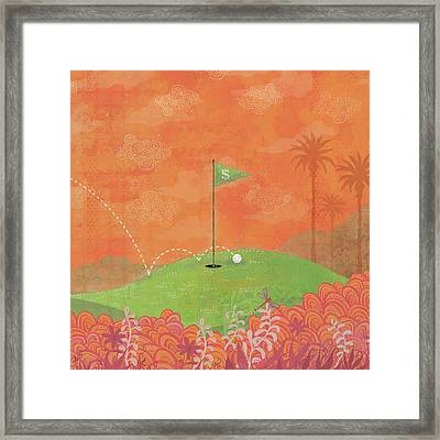 8 Iron Framed Print