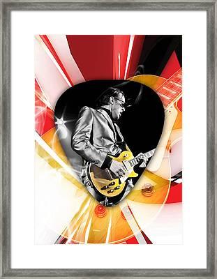 Joe Bonamassa Blues Guitarist Art Framed Print by Marvin Blaine