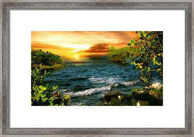 Landscape Paintings Framed Print by Victoria Landscapes
