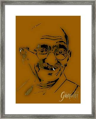 Mahatma Gandhi Collection Framed Print by Marvin Blaine