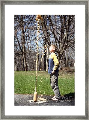 Mentos And Soda Reaction Framed Print by Ted Kinsman