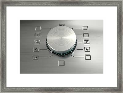 Modern Oven Closeups Framed Print by Allan Swart