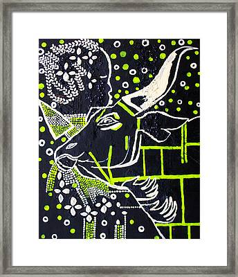 Nuer Bride - South Sudan Framed Print by Gloria Ssali