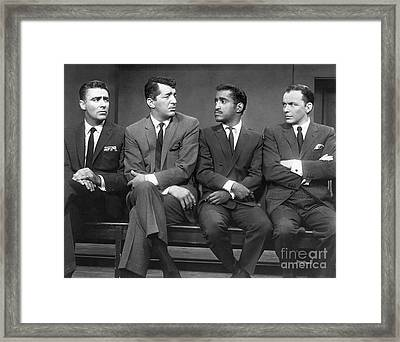Ocean's 11 Promotional Photo. Framed Print
