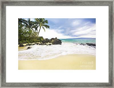 Paako Beach Makena Maui Hawaii Framed Print by Sharon Mau
