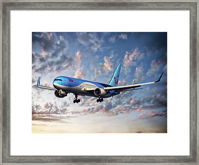Passenger Plane Framed Print by Anthony Dezenzio