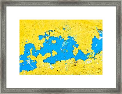 Peeling Paint Framed Print by Tom Gowanlock