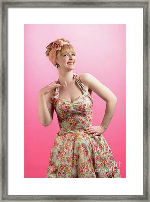 Pin Up Framed Print by Amanda Elwell