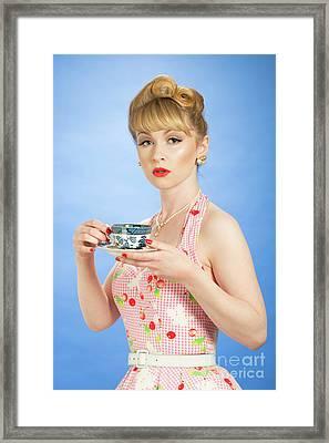 Pin Up Girl Framed Print by Amanda Elwell
