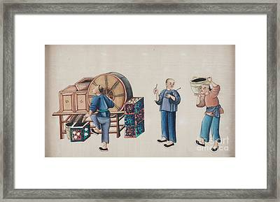Portraying The Chinese Tea Traders Framed Print