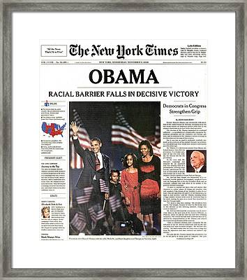 Presidential Campaign, 2008 Framed Print by Granger