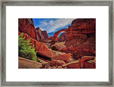 Framed Print featuring the photograph Rainbow Bridge Monument by Peter Lakomy