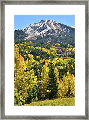 Framed Print featuring the photograph Red Mountain Pass by Ray Mathis