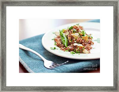 Red Quinoa With Sugar Snap Peas Framed Print