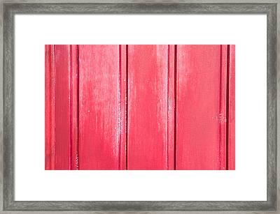 Red Wood Framed Print by Tom Gowanlock