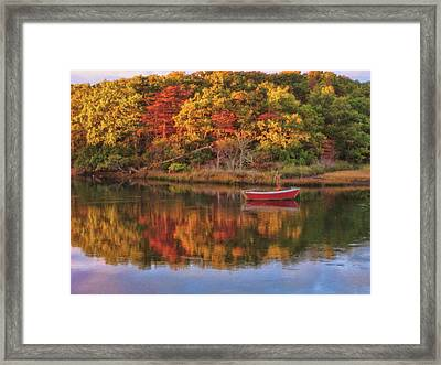 Autumn Reflection  Framed Print by JAMART Photography
