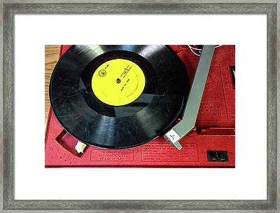 Framed Print featuring the photograph 8 Rpm Record Player by Gary Slawsky