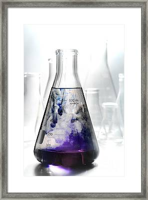 Scientific Experiment In Science Research Lab  Framed Print