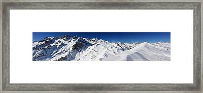 Serre Chevalier In The French Alps Framed Print