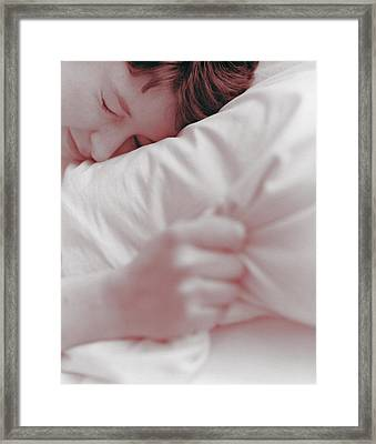 Sleeping Woman Framed Print by Cristina Pedrazzini